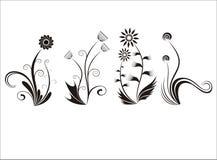 Vier ornamentbloemen royalty-vrije illustratie