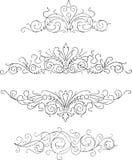 Vier ornamenten royalty-vrije illustratie