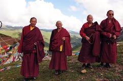 Vier Oude monniken royalty-vrije stock foto