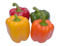 Vier Paprika lizenzfreie stockfotografie