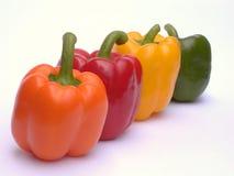 Vier Paprika royalty-vrije stock foto's