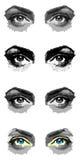 Vier paren ogen Stock Afbeeldingen