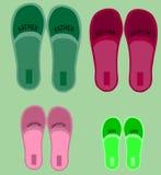 Vier paren schoenen royalty-vrije stock fotografie