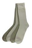 Vier paren sokken van mensen Stock Afbeeldingen