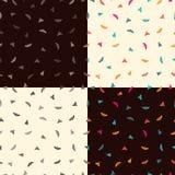Vier patronen met vlinders Royalty-vrije Stock Afbeelding
