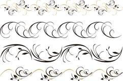 Vier patronen van ornament voor frame Royalty-vrije Stock Foto's