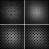 Vier perforierte Metallplatten Lizenzfreie Stockfotografie