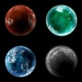 Vier Planeten vektor abbildung