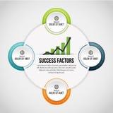 Vier Prozesskreis-Klipp Infographic Lizenzfreie Stockfotos