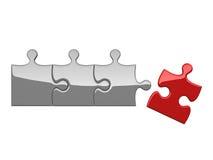 Vier Puzzlespiele auf weißem Hintergrund Lizenzfreies Stockfoto