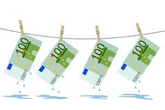 Vier Rechnungen nachdem dem Waschen stock abbildung