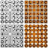 Vier reeksen pijlen Stock Foto's