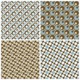 Vier Retro- Muster Stockbilder