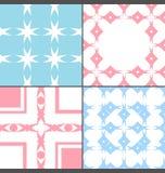 Vier retro stijl kleurrijk patroon stock illustratie