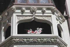 Vier Ritter am Eingang von London-Gericht, Perh, Australien Lizenzfreie Stockfotos