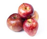 Vier rode appelen. Royalty-vrije Stock Foto