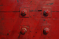 Vier rode bouten stock foto's