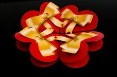 Vier rode harten Royalty-vrije Stock Afbeelding