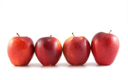 Vier rote Äpfel Lizenzfreie Stockbilder