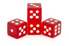 Vier rote Würfel Stockfoto