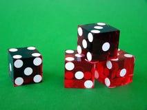 Vier rote Würfel Lizenzfreies Stockfoto