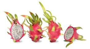 Vier roze draakfruit Het fruit van cactus is tropisch fruit royalty-vrije stock fotografie