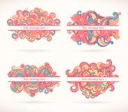 Vier roze kaders Stock Afbeelding