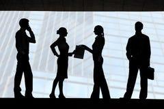 Vier Schattenbilder Stockbilder