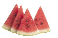 Vier Scheiben Wassermelone Lizenzfreies Stockbild
