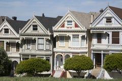 Vier schilderden zustershuizen in San Francisco Californië Royalty-vrije Stock Afbeeldingen