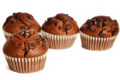 Vier Schokoladenmuffins lizenzfreies stockbild
