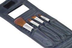 Vier schoonheidsborstels stock fotografie