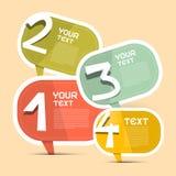 Vier Schritt-Vektor-Papier Infographic-Schablone Lizenzfreie Stockbilder