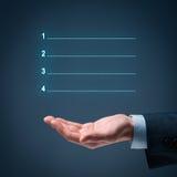 Vier Schritte infographics Lizenzfreie Stockfotos