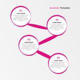 Vier Schritte infographics Lizenzfreie Stockfotografie
