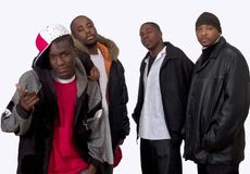 Vier schwarze Brüder stockbilder