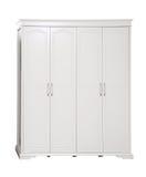 Vier-sectie garderobe over wit, met weg royalty-vrije stock fotografie