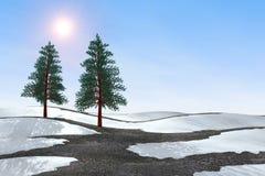 Vier seizoenen, de lente royalty-vrije illustratie