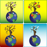 Vier seizoenen ter wereld royalty-vrije illustratie