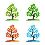 Vier seizoenen vectorillustratie Royalty-vrije Stock Fotografie