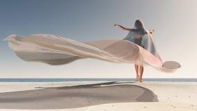 Vier Seizoenen, vrouw bij de zomer Royalty-vrije Stock Foto's