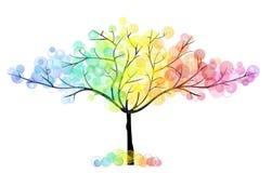 Vier seizoenenboom stock illustratie