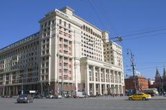 Vier Seizoenenhotel Moskou, 2, Okhotny Ryad, Moskou, Rusland - April 12, 2016 Stock Foto