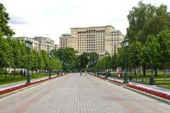 Vier Seizoenenhotel Moskou, 2, Okhotny Ryad, Moskou, Rusland 02 juni, 2016 Royalty-vrije Stock Fotografie