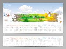 Vier seizoenenkalender 2018 Royalty-vrije Stock Fotografie