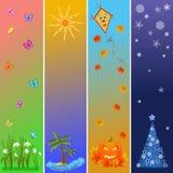 Vier seizoenenreferenties stock illustratie
