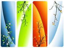 Vier seizoenenvector Royalty-vrije Stock Afbeelding