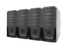 Vier Servers Lizenzfreie Stockbilder