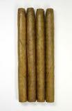 Vier sigaren vanaf bovenkant stock foto's