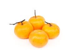 Vier sinaasappelen Stock Afbeelding
